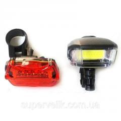 Велосипедный фонарь BL 508 COB.Набор: велосипедный