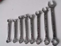 Набор из 8 рожково-накидных гаечных ключей. Набор