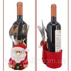 Украшение бутылок на Новый год, рождественская