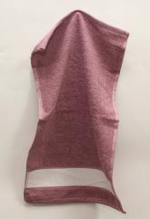 ТМ TAG Полотенце 30х50 Сиреневое с полосой