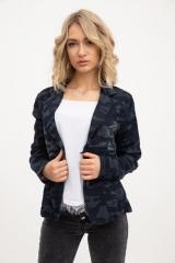 Пиджак женский 118V001 цвет Сине-серый