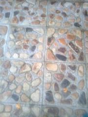 Paving slabs from sandstone garden