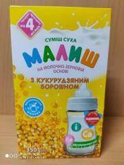 Детская сухая смесь молочно-зерновая с кукурузной