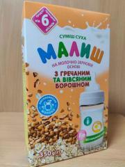 Детская сухая смесь молочно-зерновая с гречневой и