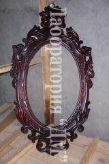 Mirror in a hall Konstantin, a frame carved of a