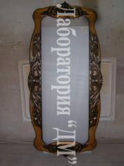 """Mirror """"Attila"""", a frame"""