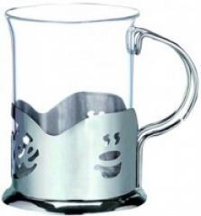 Подстаканник нержавеющий со стеклянным стаканом