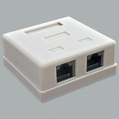 Компьютерная розетка наружная х2 (8P8C) UTP, 5-ой