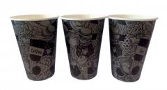Paper cup 12 oz (350 ml) Black cup