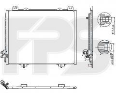 Радиатор кондиционера Mercedes E-Class 210 95-02