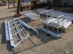 Hand-rail metal