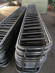 Section of protections welded