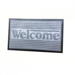 Коврик под дверь Борт Welcome 45x75 серый