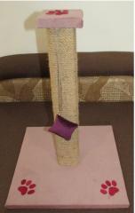 Когтеточка-столбик розовая 50 см.