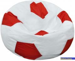 Пуф-мешок Мяч БМО6 бело-красный 110х110 см.