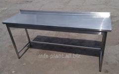 Стол производственный 1700х600х850 с бортом, из нержавеющей стали