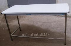 Стол производственный 700х600х850 с бортом, из нержавеющей стали