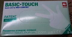 Перчатки медицинские латексные смотровые