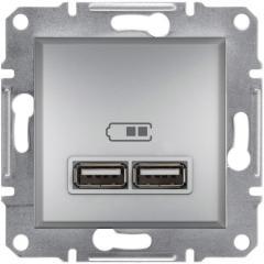 Розетка 2-ная USB Asfora цветная