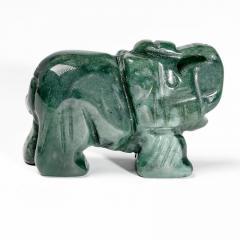 Статуэтка Слоник из зеленой яшмы, 501ФГЯ