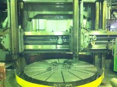 Turning rotary processing on the F-2200mm machine