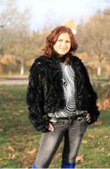 Куртки женские,Куртка из меха норки с гипюром