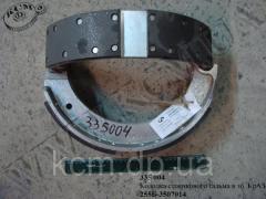 Колодка стоянкового гальма в зб. 255Б-3507014 КрАЗ