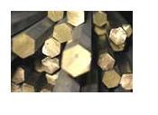 Brass hexagons.