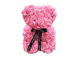 Красивый мишка из латексных 3D роз 40 см с...