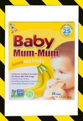 Hot Kid, Baby Mum-Mum, бананово-рисовые сухари, 24