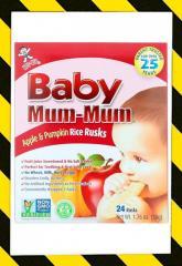 Hot Kid, Baby Mum-Mum, рисовые галеты для детей с