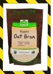 Now Foods, Органические овсяные отруби, Клетчатка