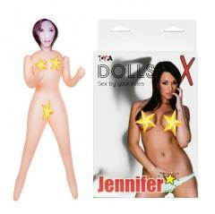 Кукла надувная Jennifer, шатенка, TOYFA Dolls-X, с