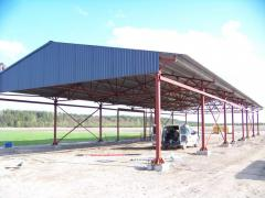 Construction of hangar of 440 sq.m.