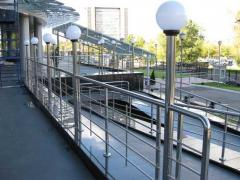 Handrail from the Italian stainless steel