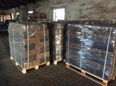 Fuel briquettes from wood
