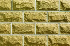 Кирпич облицовочный гиперпрессованный, Фагот Цок20 Плитка цокольная желтая