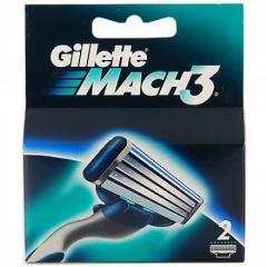 Сменные кассеты Gillette Mach3 - 2 шт (Оригинал)