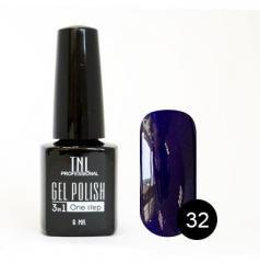 Однофазный гель-лак TNL, № 32 (черничный с блёстками), 6мл