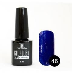 Однофазный гель-лак TNL, № 46 (чернильно-синий с микроблёстками), 6мл