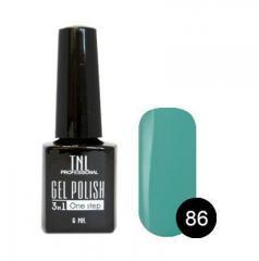 Однофазный гель-лак TNL № 86 (бирюзово-синий), 6мл