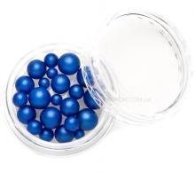 Жемчуг MIX синий