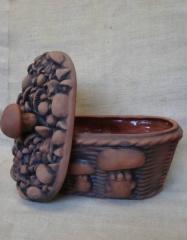Декоративная посуда из красной глины