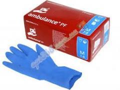 Перчатки латексные Ambulance М