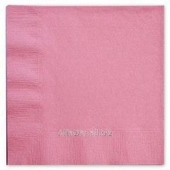 Салфетка АЛСУ 33х33 (2сл\200лис) розовая