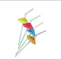 Трубочка с украшением зонтик ( 50 штук в упаковке