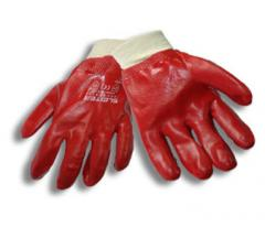 The gloves rubberized