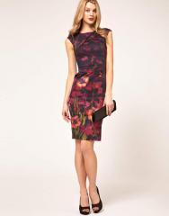 Черное платье Karen Millen с цветочным принтом