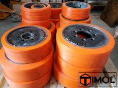 Recovery of contact layer of shaft, wheels,