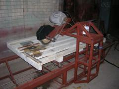 The machine for cutting of granite plates